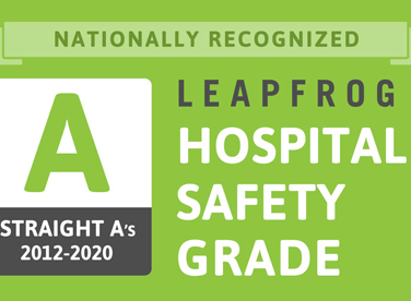 Leapfrog Hospital Safety Grade straight A