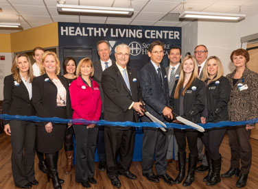 Group at opening of the Healthy Living Center