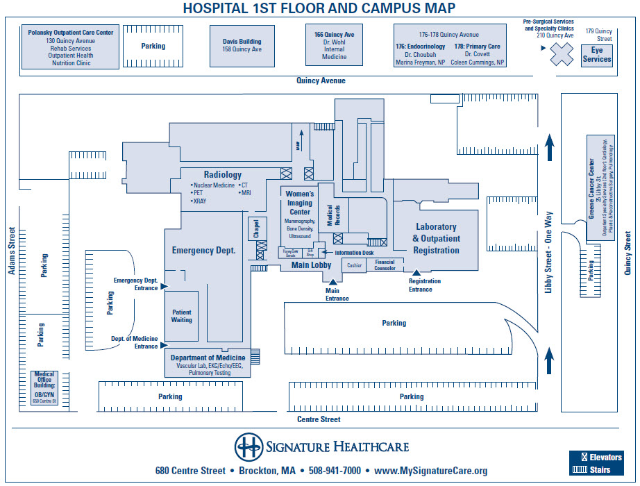 Campus Map Signature Healthcare